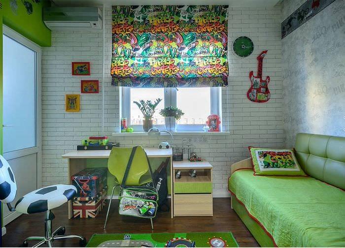 детская комната прямоугольная