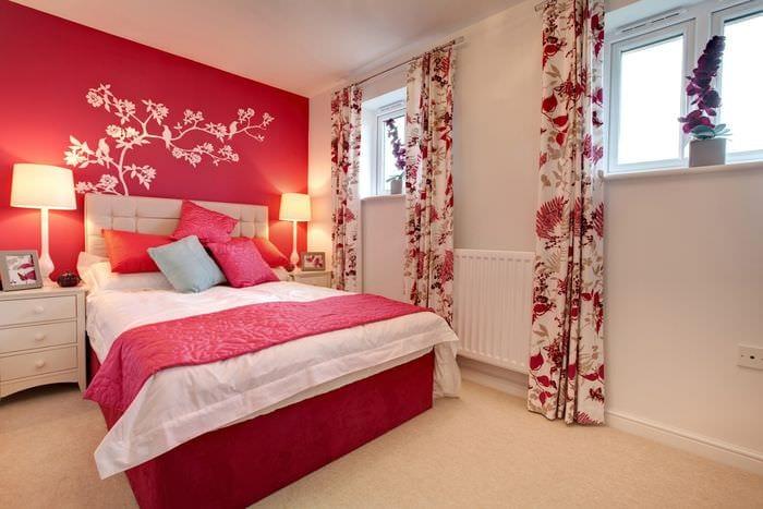 спальня 16 кв м с матовыми стенами