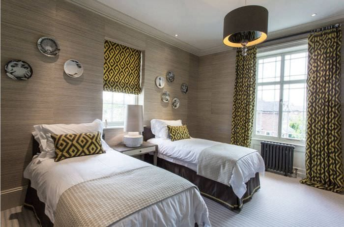 шторы в спальне 16 кв м