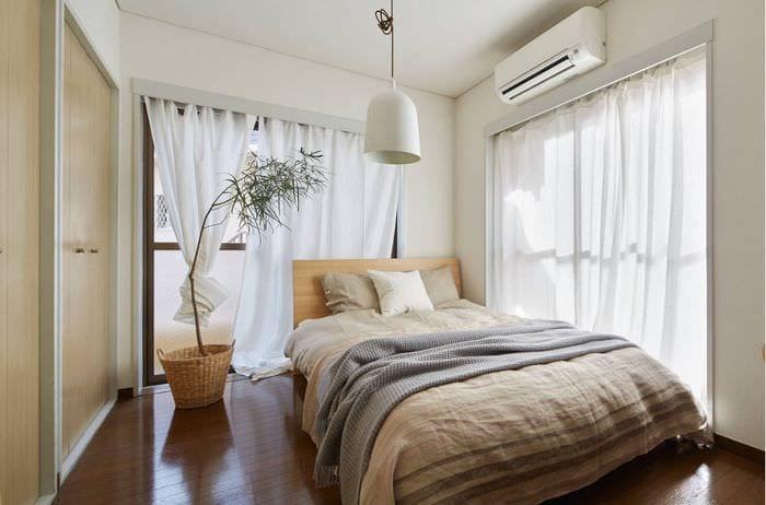 дизайн прямоугольной спальни 16 кв м