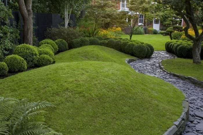 геопластика на садовом участке