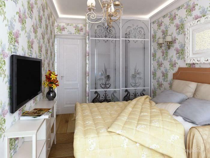 красивый декор спальни 11 кв м