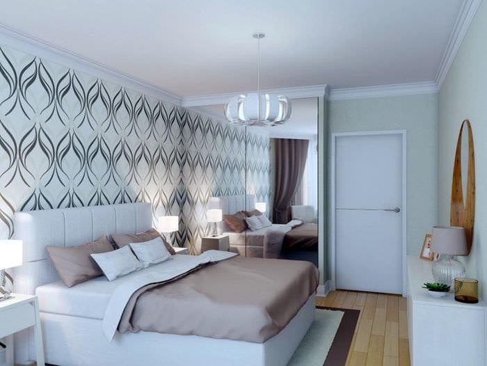 спальня 11 кв м со шкафом купе