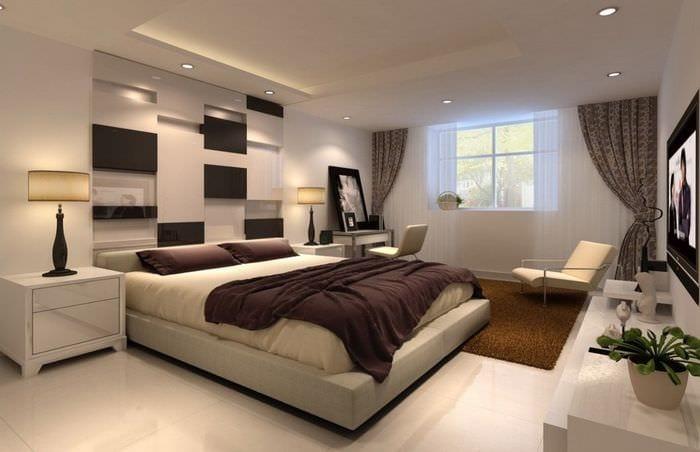 цветовое оформление спальни 14 кв м