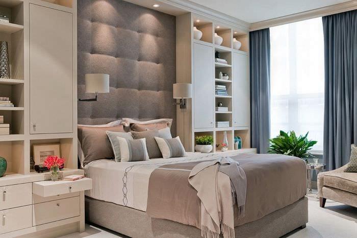 многофункциональная мебель в спальне 14 кв м