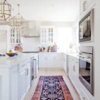 дизайн светлой кухни проект фото