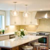 дизайн светлой кухни идеи