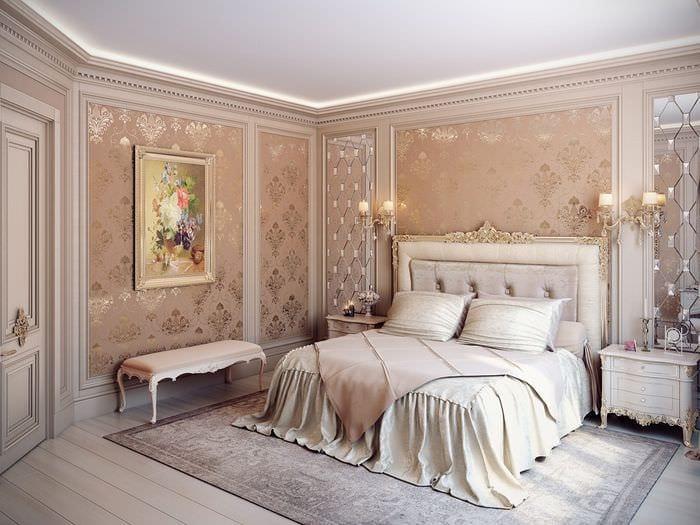 отделка классической спальни