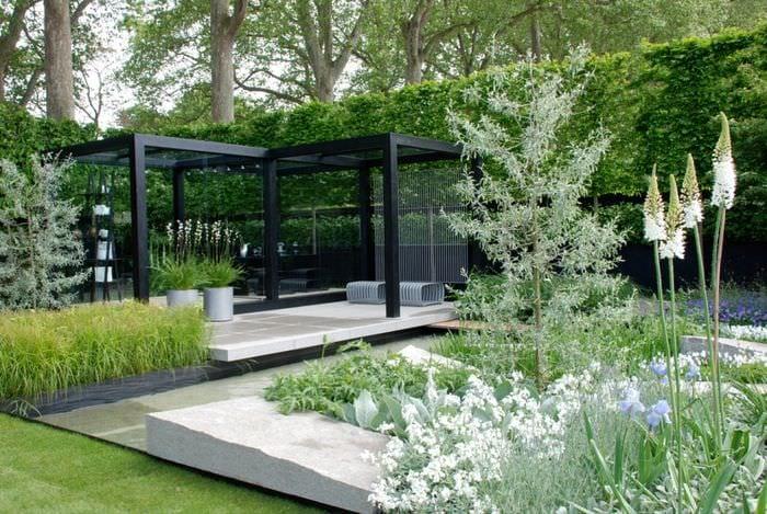 красивый дизайн садового участка 5-6 соток
