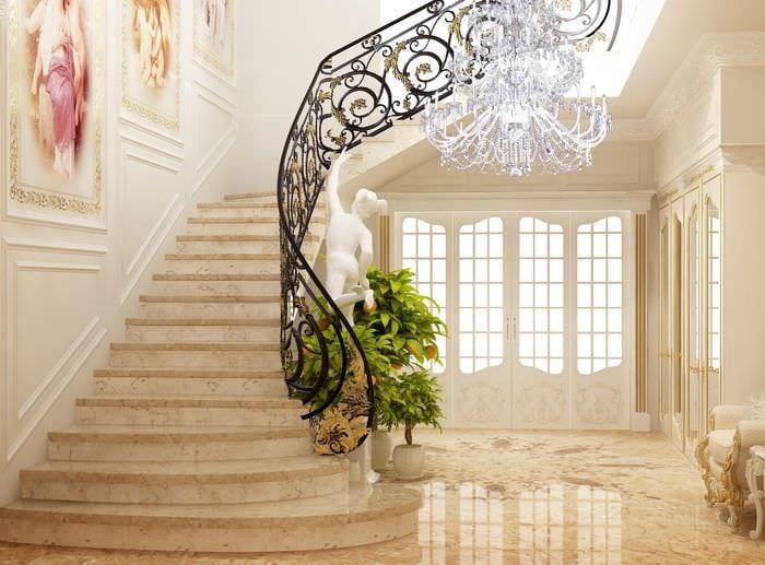 классический дизайн лестницы