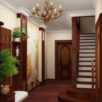 лестница в прихожей дизайн фото