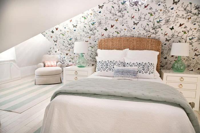 спальня мансарда прованс