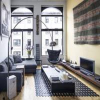 прямоугольная комната дизайн фото
