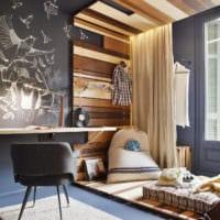 прямоугольная комната стильный интерьер