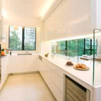 прямоугольная кухня