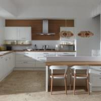 прямоугольная кухня дизайн интерьер