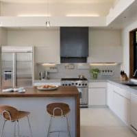 прямоугольная кухня дизайн интерьера