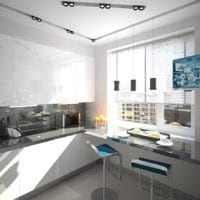 прямоугольная кухня фото дизайна