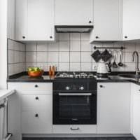 прямоугольная кухня фото интерьер