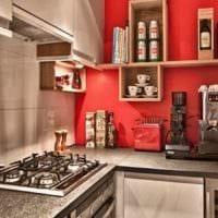 прямоугольная кухня фото интерьера