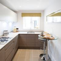 прямоугольная кухня фото оформления