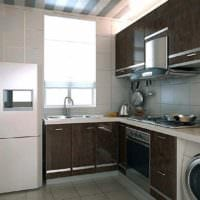 прямоугольная кухня фото варианты