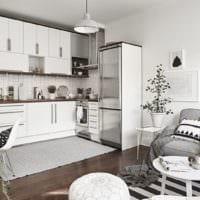 прямоугольная кухня идеи дизайна