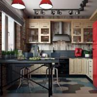 прямоугольная кухня идеи фото