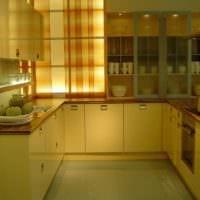 прямоугольная кухня красивый интерьер