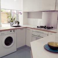 прямоугольная кухня оформление фото