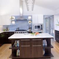 прямоугольная кухня планировка