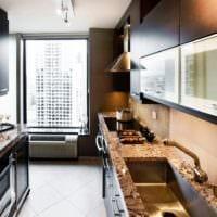 прямоугольная кухня стильный дизайн