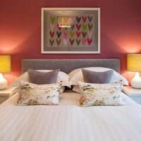 прямоугольная спальня 16 кв м декор