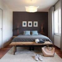 прямоугольная спальня 16 кв м фото