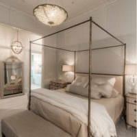 прямоугольная спальня 16 кв м фото декора