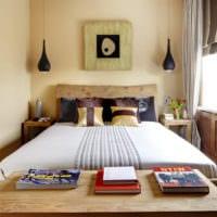 прямоугольная спальня 16 кв м освещение