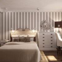 прямоугольная спальня 16 кв м вертикальные полосы