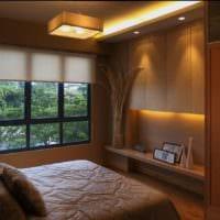 прямоугольная спальня 16 кв м встроенная мебель