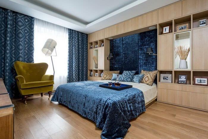 роскошный дизайн спальни 14 кв м