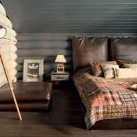спальня в деревянном доме современный стиль