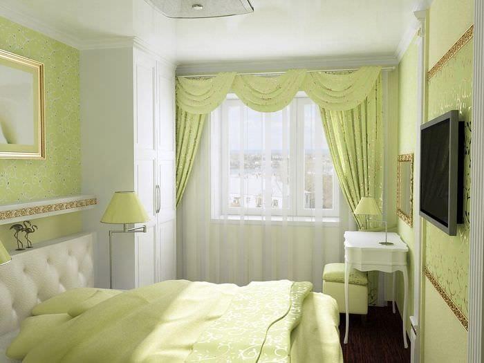 Спальня 12 кв.м реальный дизайн в хрущевке пятиэтажке