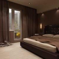 спальня 15 м2 в темных тонах