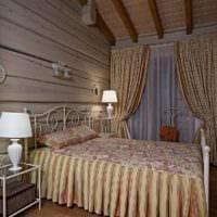 спальня в деревянном доме дизайн интерьер