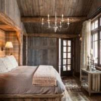 спальня в деревянном доме фото дизайна