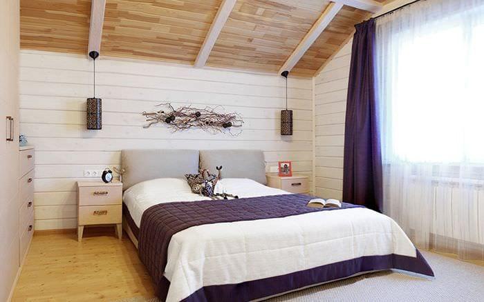 идеи спальни в деревянном доме