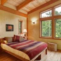 спальня в деревянном доме декор