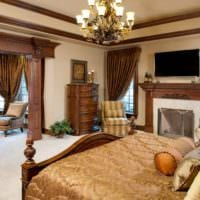 спальня в классическом стиле красивый дизайн