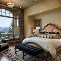 спальня в классическом стиле стильный дизайн