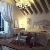 спальня на мансарде декор