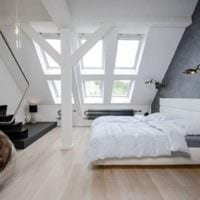 спальня на мансарде дизайн интерьера идеи